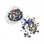 Конфетти камифубуки микс (разные цвета,разные размеры) синий,коричневый,белый