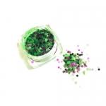 Конфетти камифубуки микс (разные цвета,разные размеры) зеленый,фиолетовый