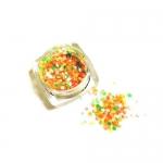 Конфетти камифубуки микс (разные цвета,разные размеры) салатовый,оранжевый