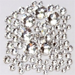 Набор страз микс размеров (500-600шт) от S3 -S16 стекло, высокое качество, белые.