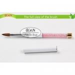 Кисть для акрила, соболь, № 8 (BOAN) ручка с розовыми кристаллами, высокое качесто!