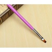 Кисть д/геля (прямая) розовая ручка П-1( бело-розовый ворс) НОВИНКА! Япония