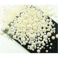 Стразы полужемчуг набор 500-600шт , от маленького до крупного, высокое качество, белый голография.