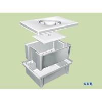 Емкость -контейнер для замачивания инструментов, с крышкой ( на 1л) ЕДПО-1-02