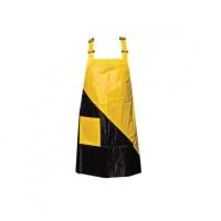 Фартук для мастера ногтевого сервиса, цвет черный с желтым