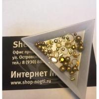 Дизайнерский набор жемчуг разных размеров+ стразы и и металл.фигурки 500-600шт , от маленького до крупного, высокое качество,керамика, золото голография.