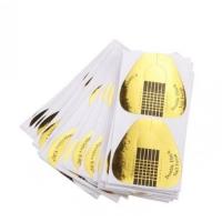 Формы для моделирования ногтей бумажные 20 шт (золото) (1 шт -2 руб)