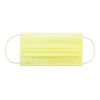 Маска защитная трехслойная уп/50 шт, желтая