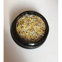 Бульонки металл микс, банка (золото-серебро)