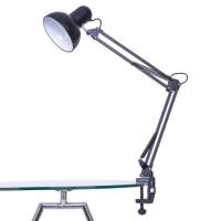 Лампа настольная для работы мастера черная без лампочки