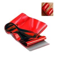 Фольга переводная красная , рулон , р-р1м на 2 см