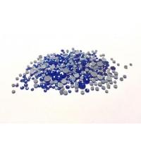 Набор страз микс размеров (100 шт) от S3 -S16 стекло, высокое качество,синие голография