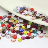 Стразы стекло, ss3 разноцветные, уп/50 шт.