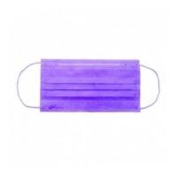 Маска защитная трехслойная уп/50 шт, фиолетовая
