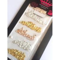 Набор ромбиков металлизир.5 разных цветов (золото, серебро, бронза и т.п)
