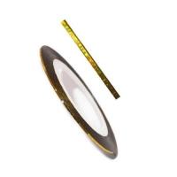 Фольга для дизайна в рулонах 20м*8мм №01 Золото голография