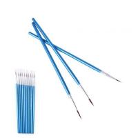 Кисть для дизайна №0, голубая ручка