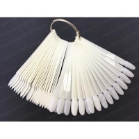 Палитра-веер на кольце на 50 цв.,прозрачная  миндаль