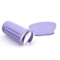 Штамп для стемпинга, силиконовый, фиолетовый со скребком (большой)