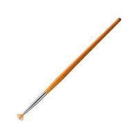 Кисть веерная для дизайна, маленькая Irisk Professional (К375-00)