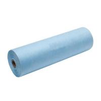 Безворсовые салфетки голубые в рулоне 40*40