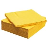 Салфетки 20*20, 40 г/м2 Cotton, 100 шт ЖЕЛТЫЕ
