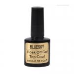 SHELLAC BLUESKY Top Coat Gel с липким слоем( серебристая этикетка фольга)